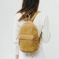 Leather Backpack - Honey Nubuck