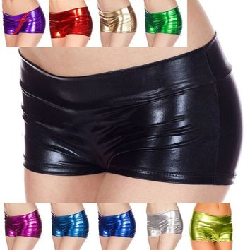 Metallic Rave Shorts