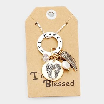 Angel & Wings im Blessed Pendant Necklace