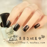 French matte black false nail set  french false nails Unique Style  fake nails acrylic Bride Full design nail tips Fashion Nail art tool hand makeup  464 (Color: Black) = 1929555012