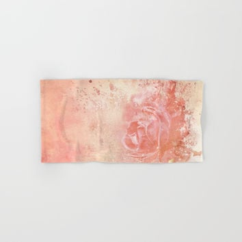 Rose Colored Splashes Hand & Bath Towel by Theresa Campbell D'August Art