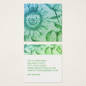 Sunflower Florist Business Cards