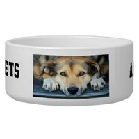 Create your own dog water bowls from Zazzle.com