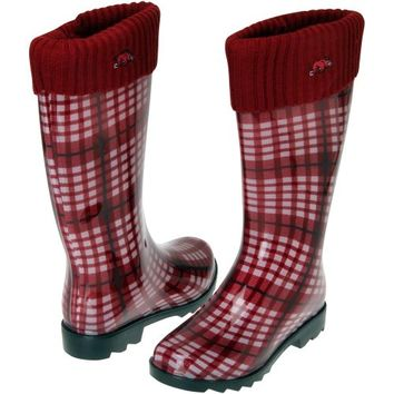 Arkansas Razorbacks Ladies Rain Boots - Cardinal