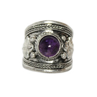Yoga Adjustable Amethyst Ring