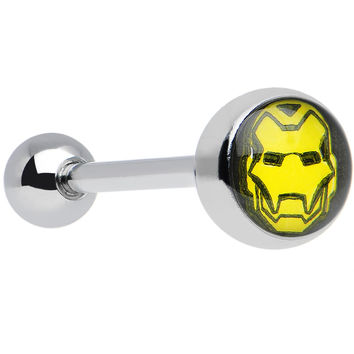 """14 Gauge Officially Licensed Marvel Iron Man Tongue Ring 5/8"""""""