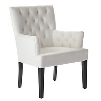 Lola Arm Chair - White Linen | Dining Chairs | Z Gallerie