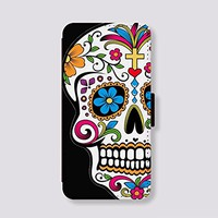 Leather Phone Covers Sugar skull for iPhone 5c Case