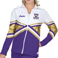 Metallic Panel Double Knit Cheerleading Warm Up by Chasse