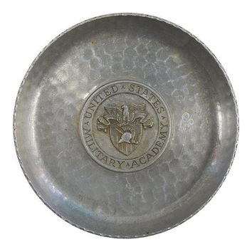 West Point Academy Aluminum Vintage Small Tray Catch All