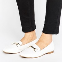 New Look Wide Fit Leather Look Buckle Loafer at asos.com