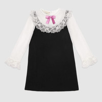 Gucci Children's jersey dress with lace