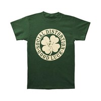 Social Distortion Men's  Irish T-shirt Green