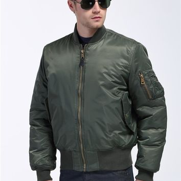 Plus Size US Air Force Pilot Ma1 Bomber Flight Jacket Men Varsity Letterman Winter College Baseball Waterproof Nylon For Male