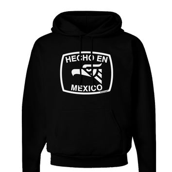 Hecho en Mexico Eagle Symbol with Text Dark Hoodie Sweatshirt by TooLoud