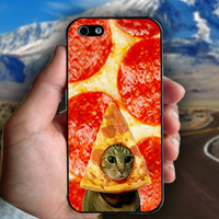 Pizza Cat Funny Kitty Cool - Print on hard plastic case for iPhone case. Select an option