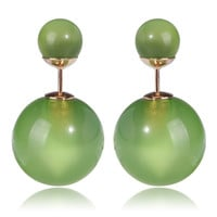 Gum Tee Tribal Earrings - Glass Green Apple