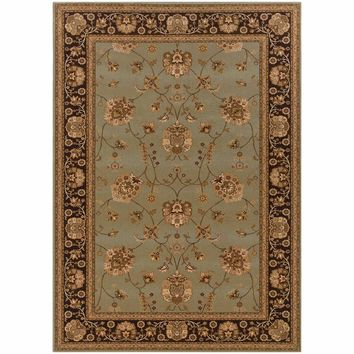Knightsbridge Blue Brown Oriental Persian Traditional Rug