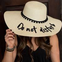 """Do Not Disturb"" Beach Hat"