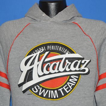 80s Alcatraz Swim Team Hooded Sweatshirt Extra Large
