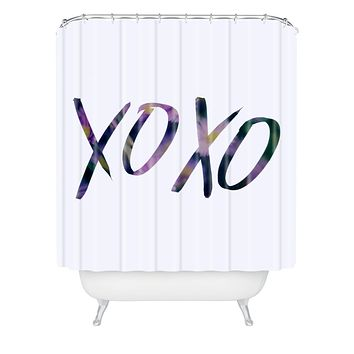 Leah Flores XOXO Shower Curtain