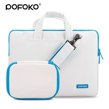 Leather laptop messenger briefcase bag for Macbook Air/Pro