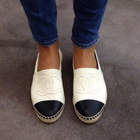 Summer11 : Chanel Fashion Espadrilles For Women Leisure Comfortable Shoes White