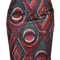 Plus Size African Skirt - Plus Size Pencil Skirt - Ankara Skirt