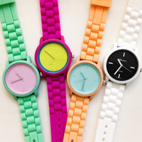 Cute Pastel Color Silicone Band Watches #W51