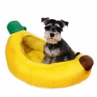 Banana Cotton Soft Warm Sleep Dog Beds For Medium Dogs Dog Bed Small Large Dogs Houses Kennel PT120101