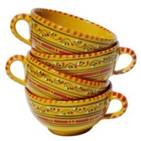 One Kings Lane - The Mediterranean Table - Le Souk S/4 Latte/Soup Mugs, Solena