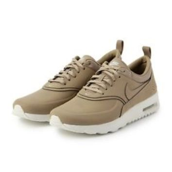 2015NIKE WOMEN AIR MAX THEA PREMIUM Brown/White 616723-201 Desert Camo Beige Prm