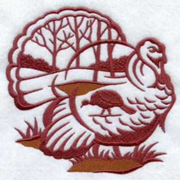 Towel TURKEY design - Fishing, Hunting, Shooting Lodge, Rustic style Thanksgiving
