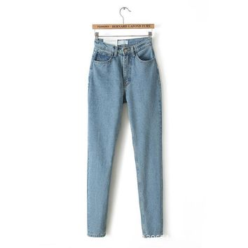 High Waist High Quality Denim Pants Jeans [8864413191]