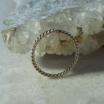 Gold Nose Ring Dotted Twist