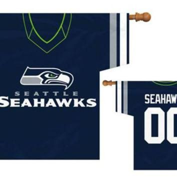 DCCK8X2 Seattle Seahawks NFL Jersey Banner 34x30 2-sided