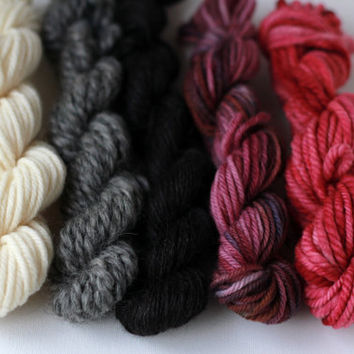 Weaver's Yarn Pack 012 - Serene Fiber Arts Mini Skein Pack for Weaving - 100g