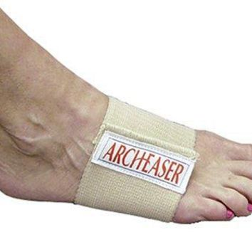 Lumiscope Adjustable Elastic Compression Wrap Foot Arch Easer, Pair
