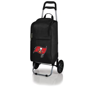 Tampa Bay Buccaneers - Cart Cooler with Trolley (Black)