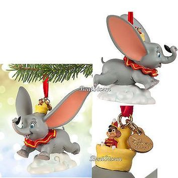 Licensed cool 2015 Disney Store DUMBO Elephant Timothy Sketchbook Christmas Ornament BOXED NEW