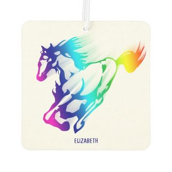 Running Rainbow Horse With Motion Trail Air Freshener