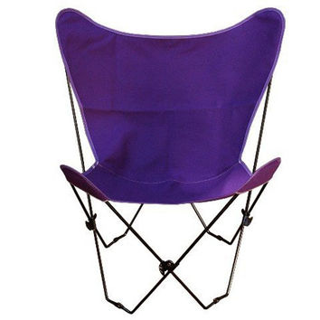 Algoma Net Company 405302 Black Butterfly Chair with Purple Cover