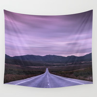 """At the end of the road"" Purple sunset by Guido Montañés"