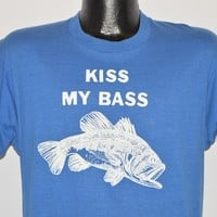 80s Kiss My Bass t-shirt Large