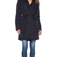 G-Star New Duty Cropped Parka in Navy