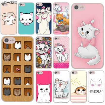 Lavaza The cartoon AristoCats Marie Cats cat Hard Cover Case for Apple iPhone 8 7 6 6S Plus 5 5S SE 5C 4 4S X 10 Coque Shell