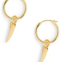 Missoma Mini Dagger Charm Hoop Earrings | Nordstrom