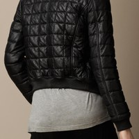 HANDMADE WOMEN QUILTED LEATHER JACKET, WOMEN BLACK QUILTED LEATHER JACKETS, BIKER JACKETS