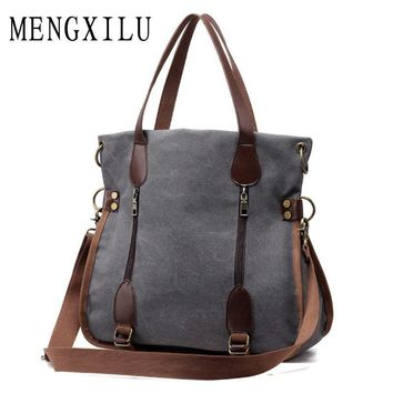 Women Large capacity Tote Bag With Zipper And Buckle Strap Detailing