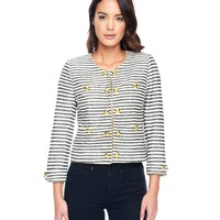 Angel / Top Hat Ca Calypso Stripe Lurex Boucle Jacket by Juicy Couture,
